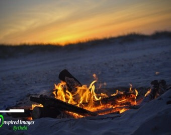 Landscape Photography, Nature, Beach, Campfire, North Carolina, Outer Banks
