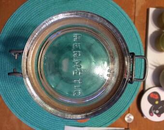Vintage Hermetic Glass Jar Green