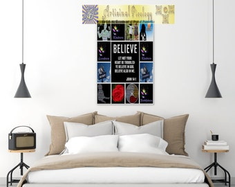 Bible Verse Art - John 14:1 - Scripture Print, Bible verse, inspirational quote, wall art, decor poster, typography digital