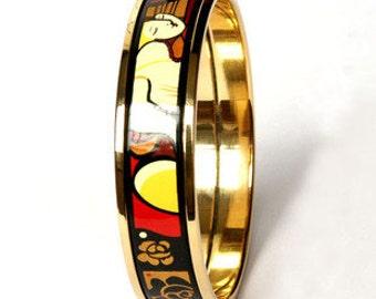 Dream Series Enamel 18K Gold Plated Copper Bodied Bracelet