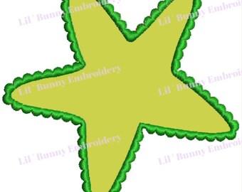 Applique Machine Embroidery - Star Fish Sea Beach Ocean Life Design Pattern Instant Download 4x4 Hoop