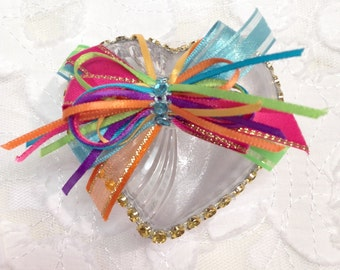 12 Colorful Heart Shaped Favors, Wedding Favors, Quinceanera Favors, Sweet Sixteen Favors, Baby Shower Favors, Party Favors