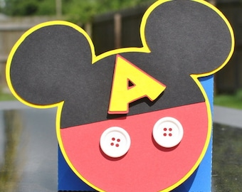 Custom Mickey Mouse Inspired Birthday Invitations