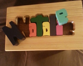 Children's Puzzle Stool- Natalie