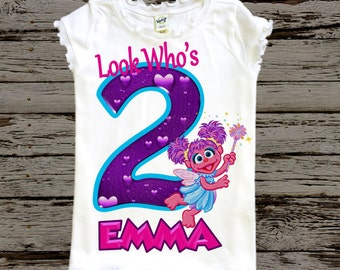 Abby Cadabby Birthday Shirt - Girls Sesame Street Birthday Shirt