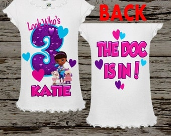 Doc McStuffins Birthday Shirt - Doc Mcstuffin Birthday Shirt