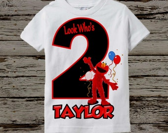 Elmo Birthday Shirt - Boy's Elmo Birthday Shirt