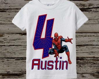 Spiderman Birthday Shirt - Spiderman Shirt