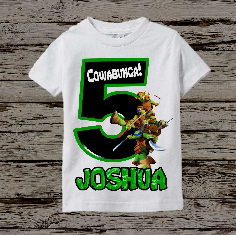 Ninja Turtles Birthday Shirt Tmnt Birthday Shirt