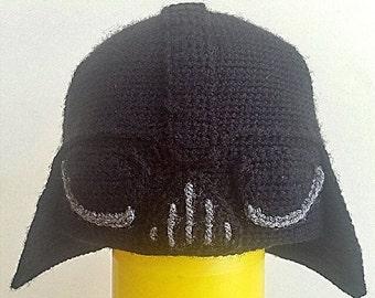 Knitting Pattern Darth Vader Hat : Crochet darth vader Etsy