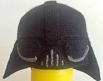 Darth Vader beanie crochet pattern (ENGLISH)