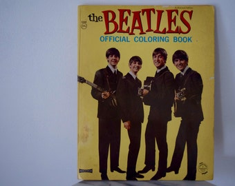 The Beatles Coloring Book Vintage 1960s