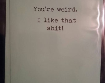 Weird/rude/card/occasion/funny