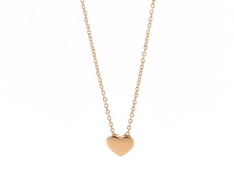 Rose Gold heart Necklace, Dainty Heart Necklace, Heart Charm Necklace, Heart Pendant Necklace, Rose Gold, 925 Silver Necklace, 925 Necklace