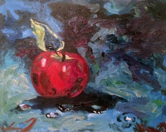 Apple Delight- 8''x10'' original acrylic painting