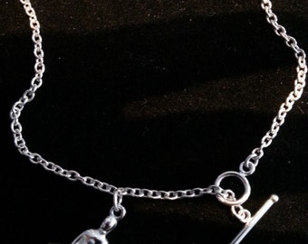 Sterling Silver Single Yoga Anklet