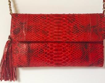 "New Luxury Genuine Python Leather Clutch ""CORSICA"""