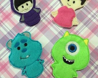 Monster Finger Puppets Set