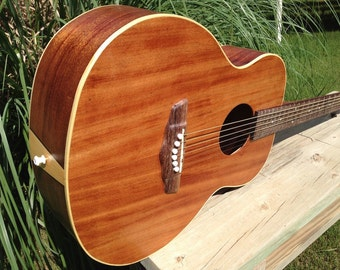 The Mahogany White, Handcrafted Acoustic Guitar