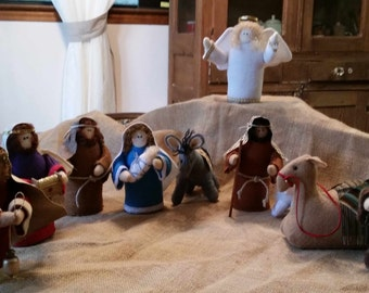 Nativity Set - Felt and Fabric