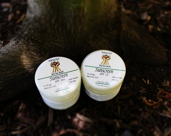 Organic Waterproof Sunscreen - Carrot Seed, Myrrh, and Lavender with non-nano zinc oxide (SPF 15 or SPF 30)