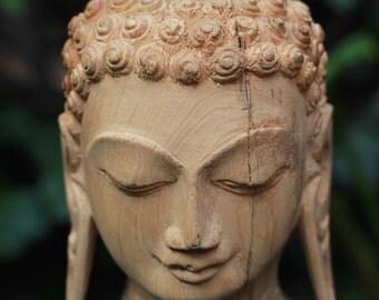 Wooden Handcrafted Buddha Head