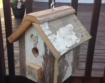 Barn Wood Birdhouse, Rustic Birdhouse, Country Birdhouse