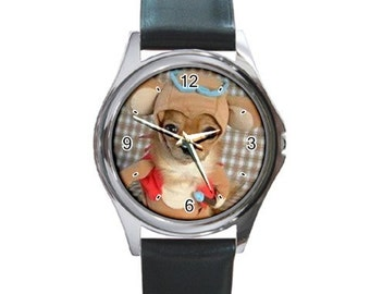 My Funny doggy Round Metal Watch