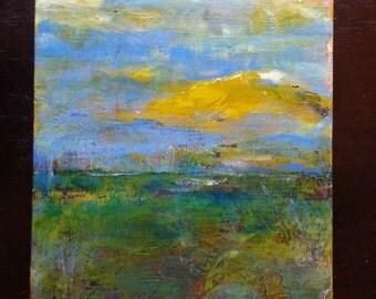 Acrylic Painting on 16 x 20 Canvas - Prairie