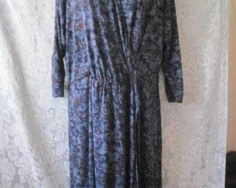 Vintage hippie boho lucky brand wrap dress XL