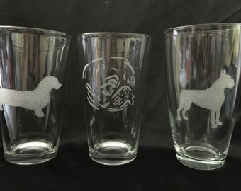 Custom Etched Tumbler or Pilsner