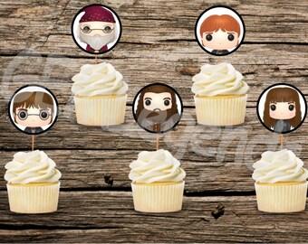 Harry Potter Cupcake Toppers, Harry Potter Cupcakes, Harry Potter Birthday, Harry Potter Birthday, Harry Potter, INSTANT DOWNLOAD, DIGITAL