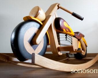 Rocking Motorbike 'Y-GA-GA' by sonosomno - unique design - wooden - rocking