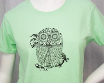 T's Owl screen printed tshirt