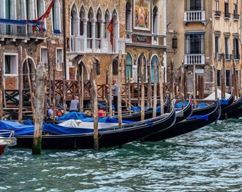 Gondolas, Venice, Italy, Landscape Photography, Wall Art