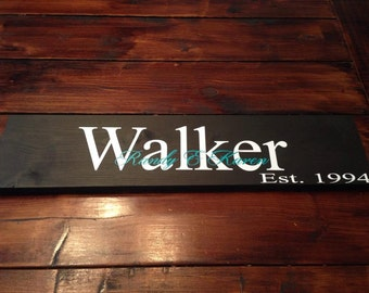 7x24' Personalized Family sign