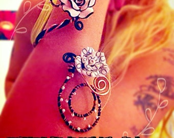 Summer flower cuff bracelet