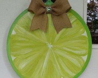 Lime, Lemon, Pink Lemon, Grapefruit or Orange Slice door hang