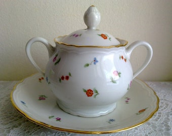 richard ginori vintage sugar bowl 3 stars 40s made in italy