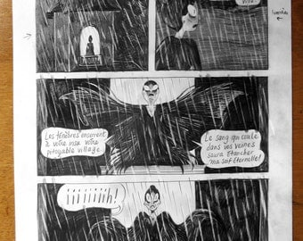 Original drawing - the vampires p.38 cousins