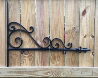 Decorative Wrought Iron Sign Holder