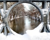 East Lansing, Michigan Photograph - Red Cedar River - Michigan Art - Fine Art Print - Wall Art Decor - Winter Art  // On the Banks