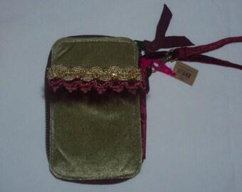 Natural Life Olive Bohemian Hippie Style Wristlet Handbag Purse Free Shipping