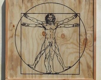 Homo Vitruvian Man by Leonardo da Vinci