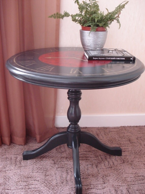 Items Similar To Sold Gorgeous Coffee Table With Clock Face On Etsy