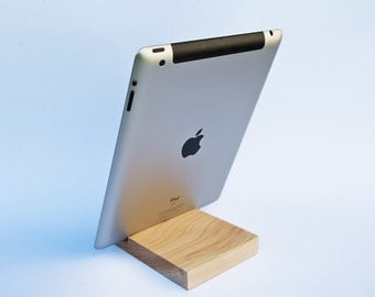 iPad stand. Wood iPad stand. Wooden iPad Stand. Cherry iPad Stand. iPad Docking Station.