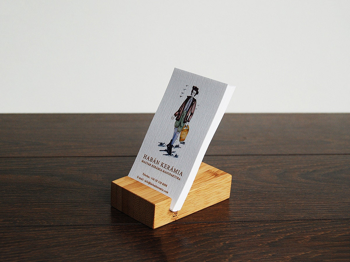 Luxury Business Card Holder. Bamboo Business Card Holder. - Magowood