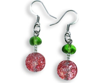 Murano Glass Earrings - Lucia Rosa Earrings