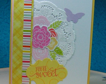 You're Sweet, Greeting Card, Floral, Any Occasion, Any Age, Blank Inside (#27)