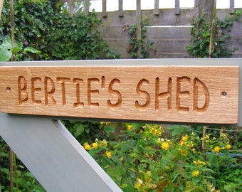 Rustic Wooden Sign, Personalised Engraved Outdoor Oak Plaque, Gate Sign, Garden Sign, Door Plaque,Christmas Gift